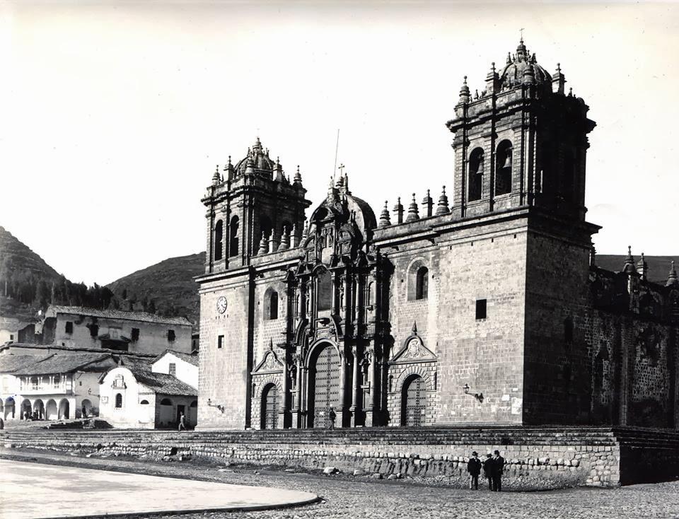 Foto antigua de la Catedral del Cusco