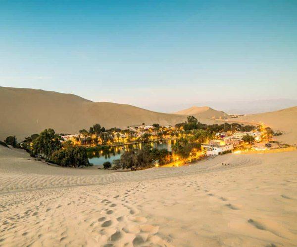 Plano de las Dunas y Oasis de Huacachina