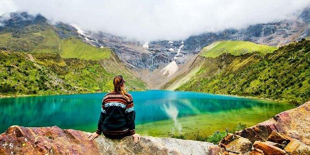 Laguna Humantay, al pie del nevado Salkantay