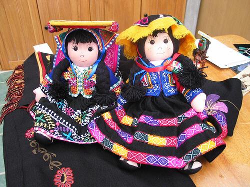 Muñecas de trapo en Textilería Cusqueña